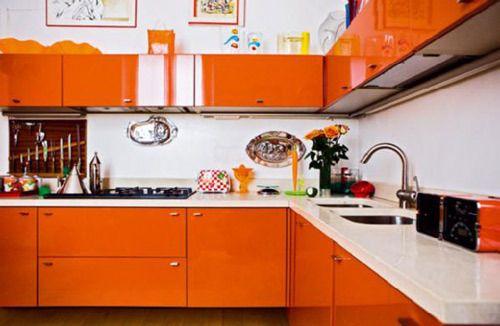 astonishing orange kitchen furniture | Kitchen Cabinets in Every Color of the Rainbow | Orange ...