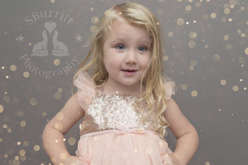 SBurritt Photography Canada Glitter session child photography girl pink sparkles