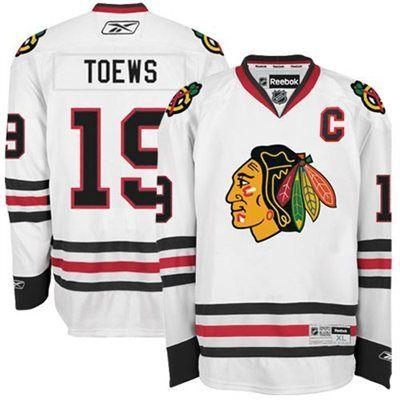 Chicago Blackhawks #19 Janathan Toews White Kids Jersey