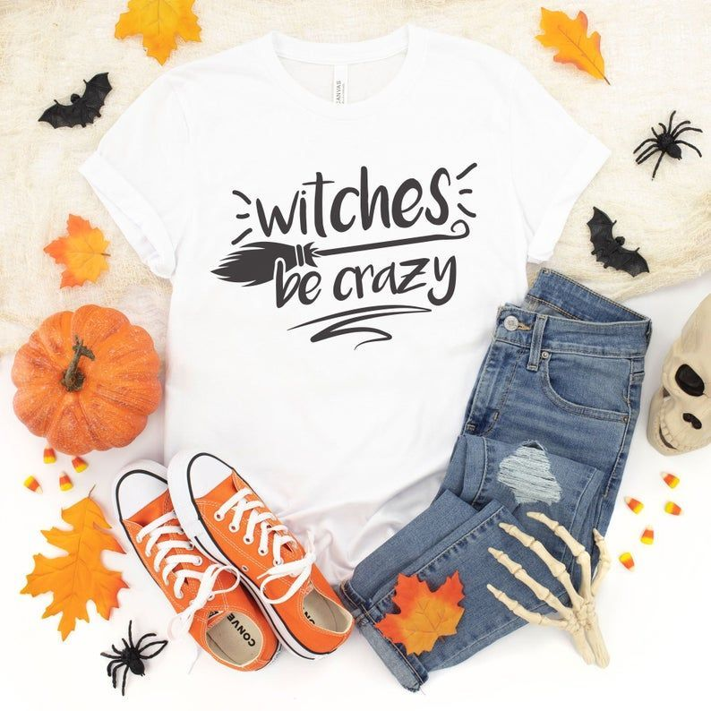 Halloween 2020 Funny Witches Witches Be Crazy Fall tshirts for women, Witch tshirt, funny
