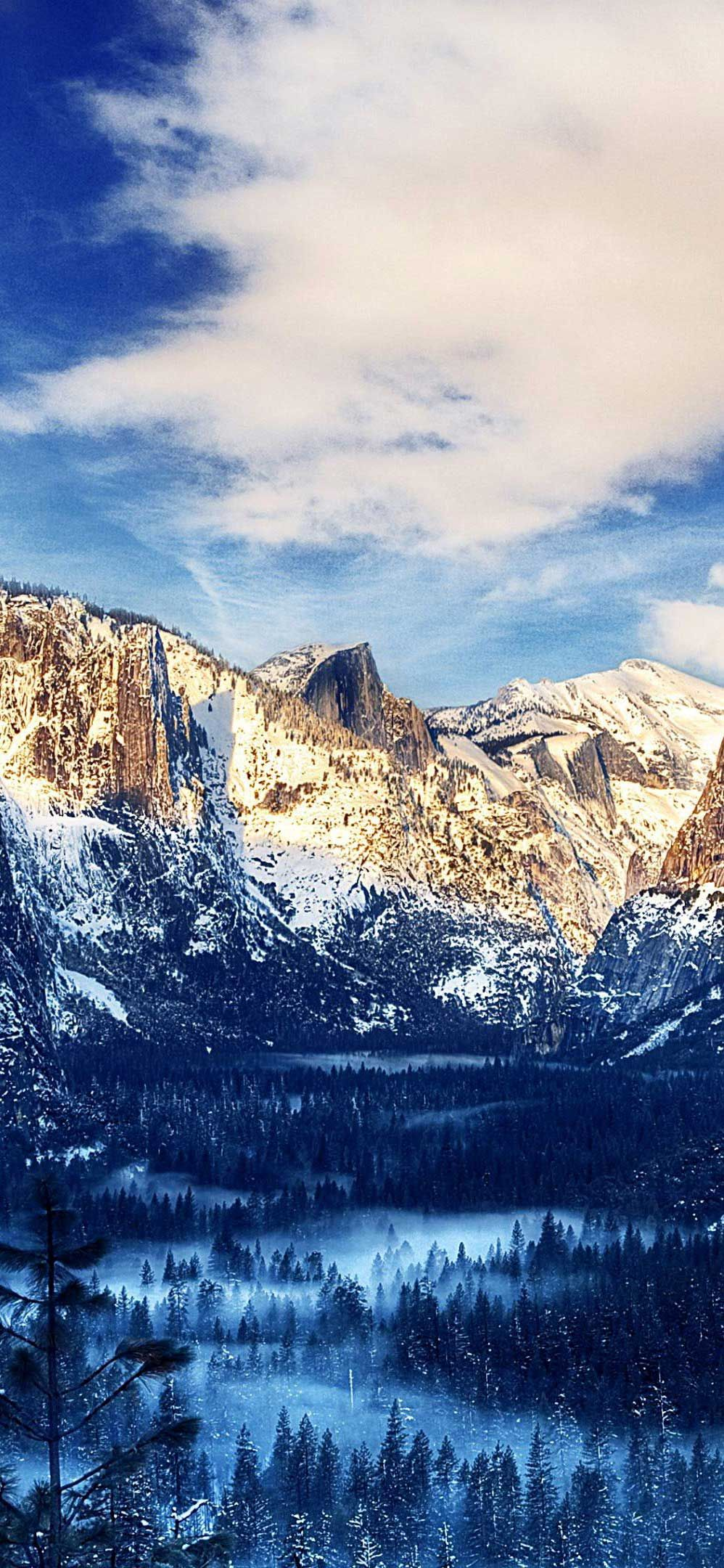 Iphone Wallpaper Yosemite Valley Snow Sunset K Ultra HD