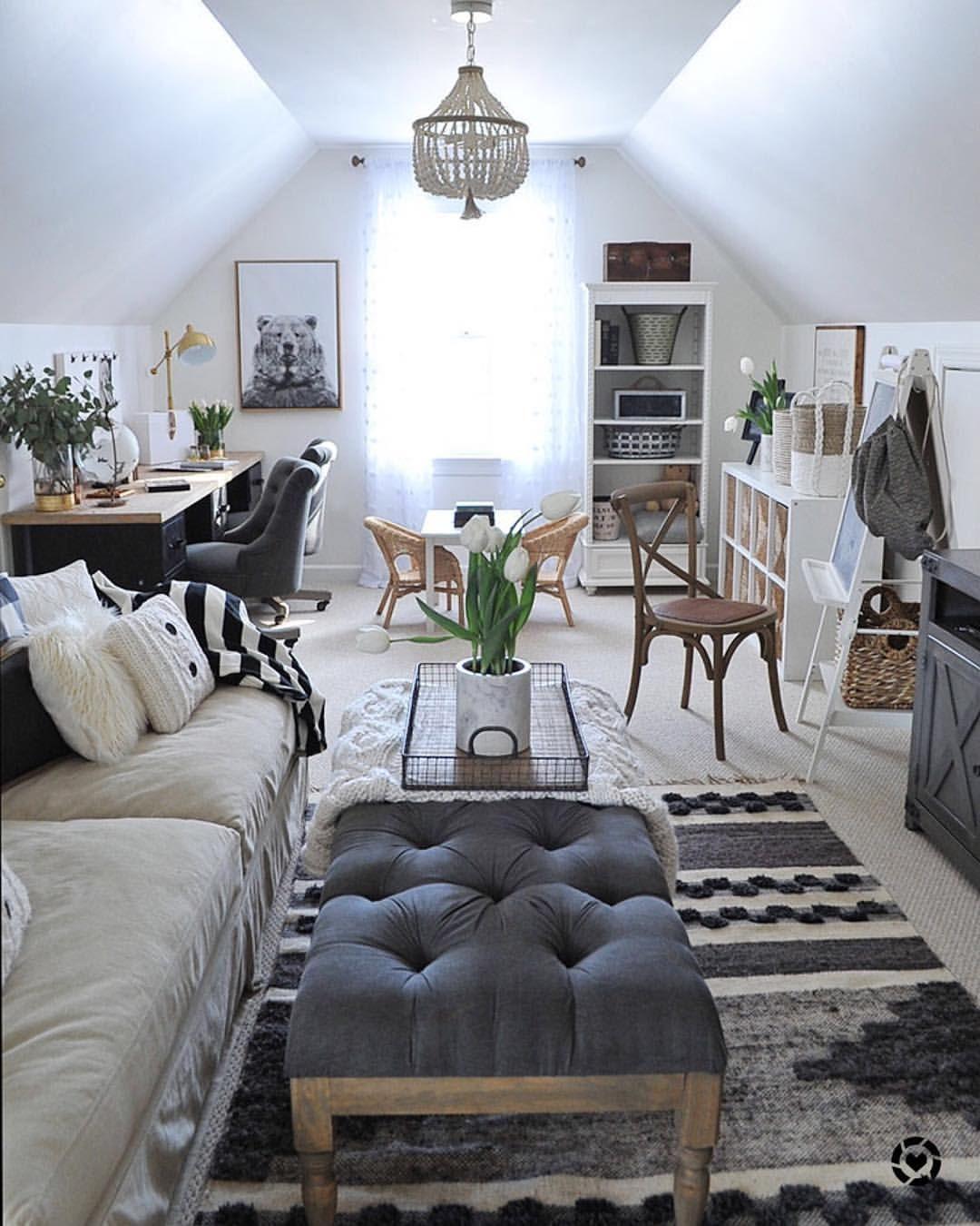 Attic Decor Ideas Bonus Room Decorating Small Space Living