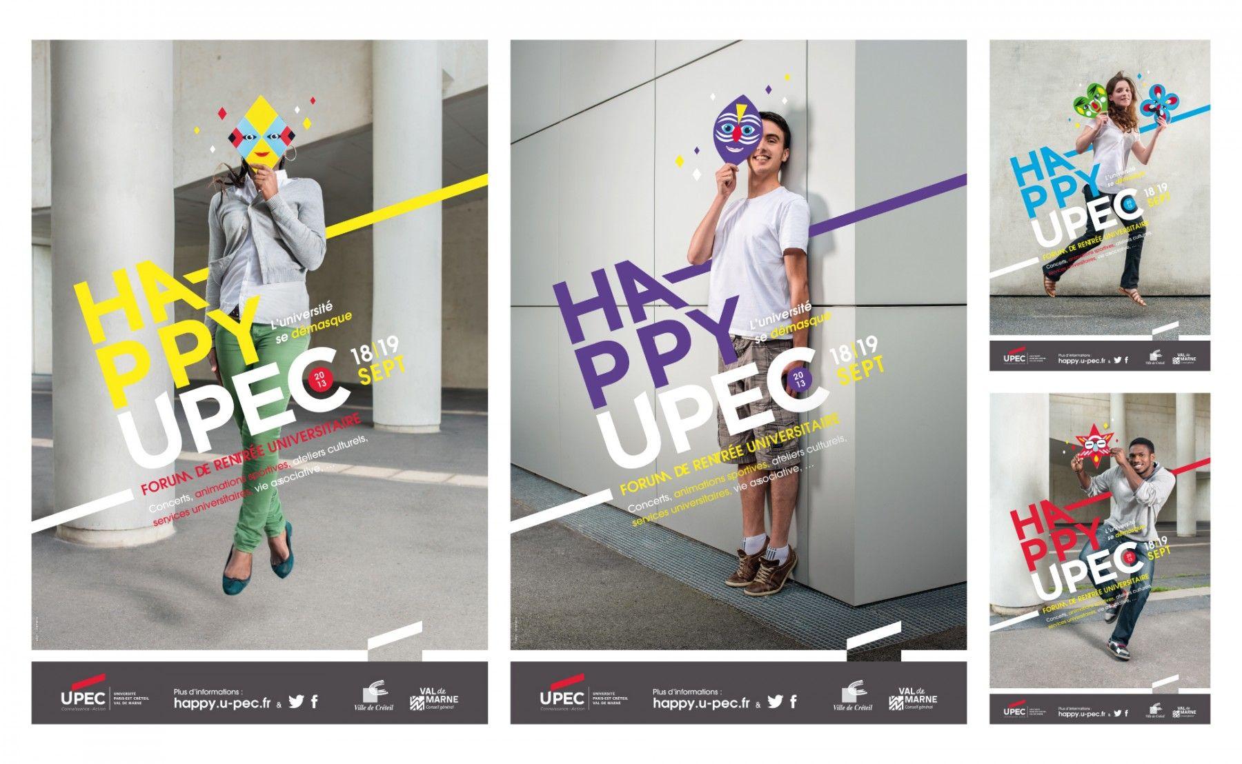graphéine affiche Happy Upec trong 2020