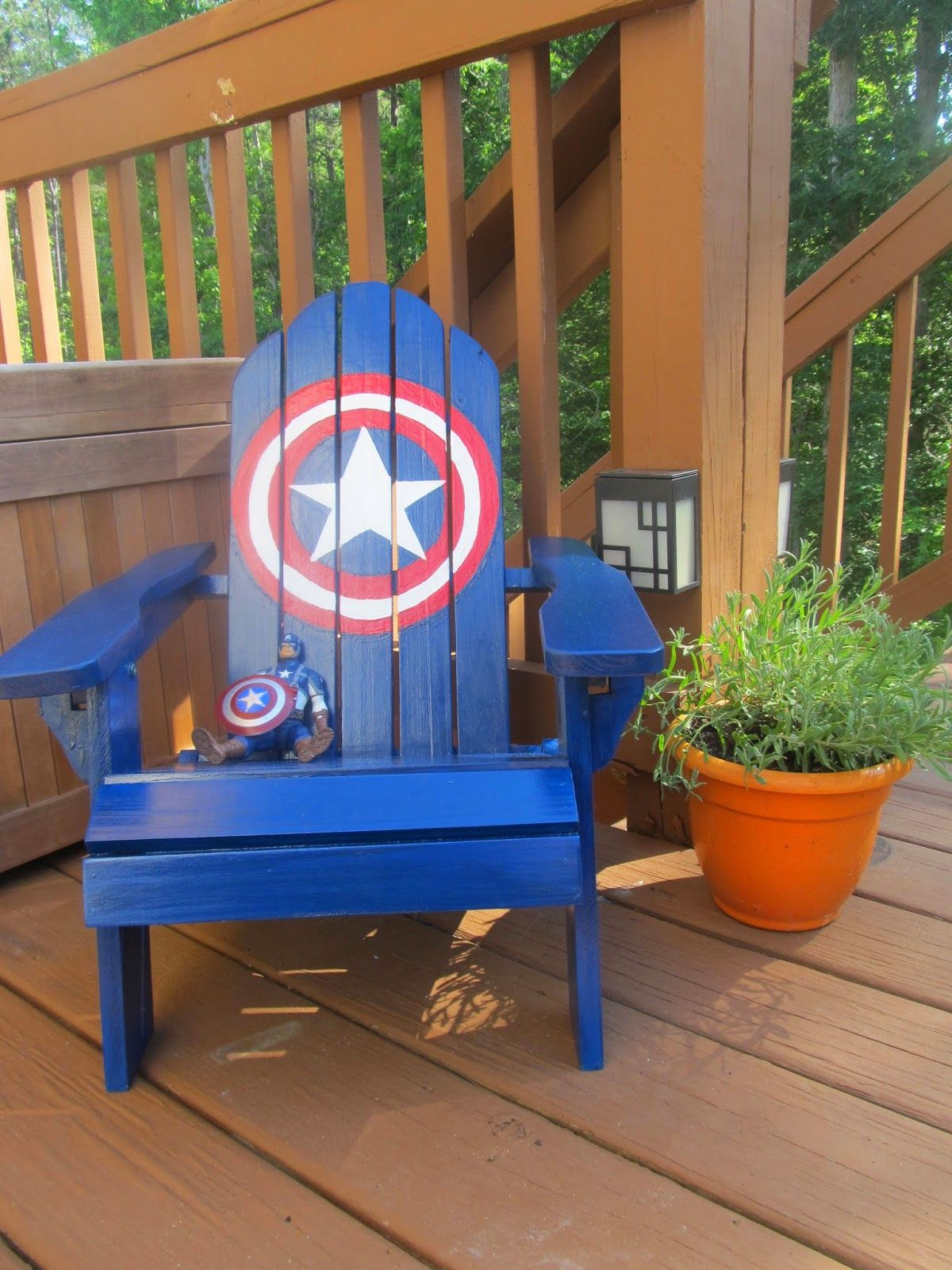 Peachy Half Finished House Diy Captain America Chair Kids Pabps2019 Chair Design Images Pabps2019Com