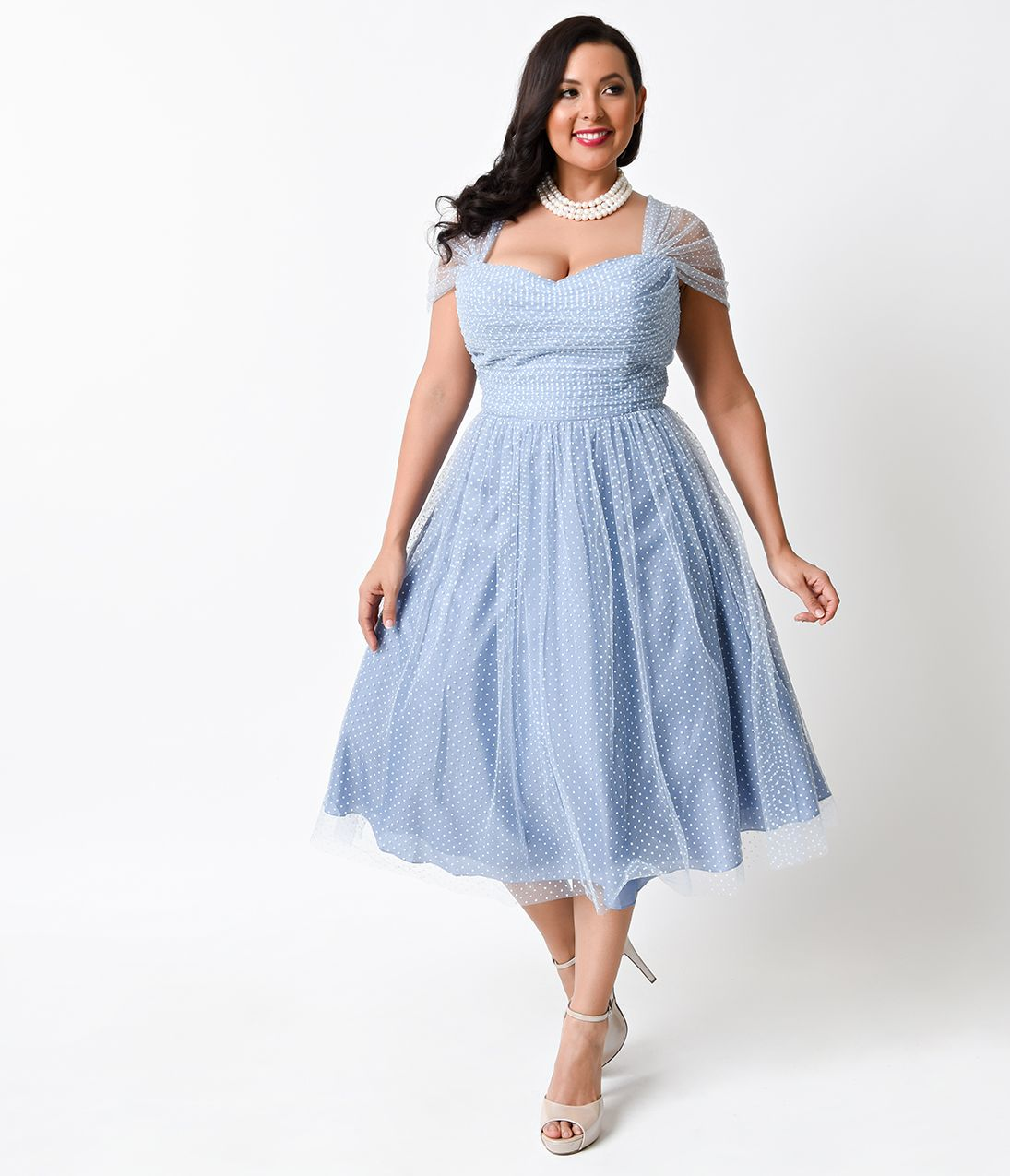 1950s Plus Size Dresses, Clothing in 2019 | Blue plus size ...