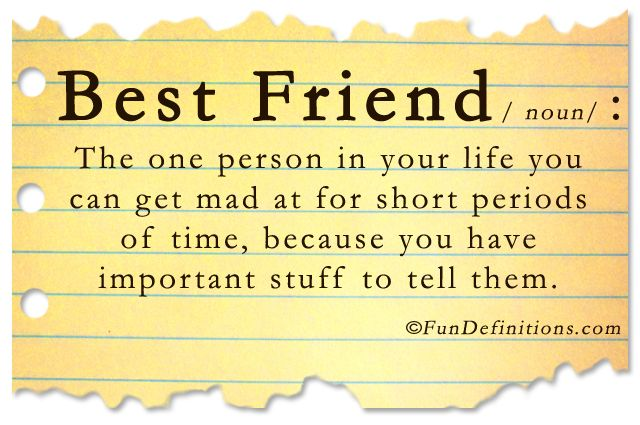 the definition of best friend