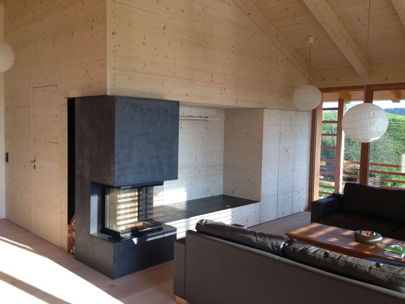 panoramakamin verputzt mit spachteltechnik #panoramakamin, Wohnzimmer dekoo