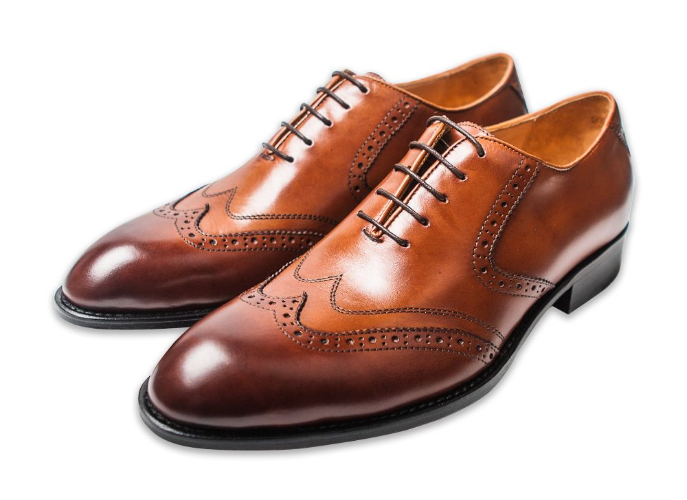 Men Wearing Leather Sole Shoes