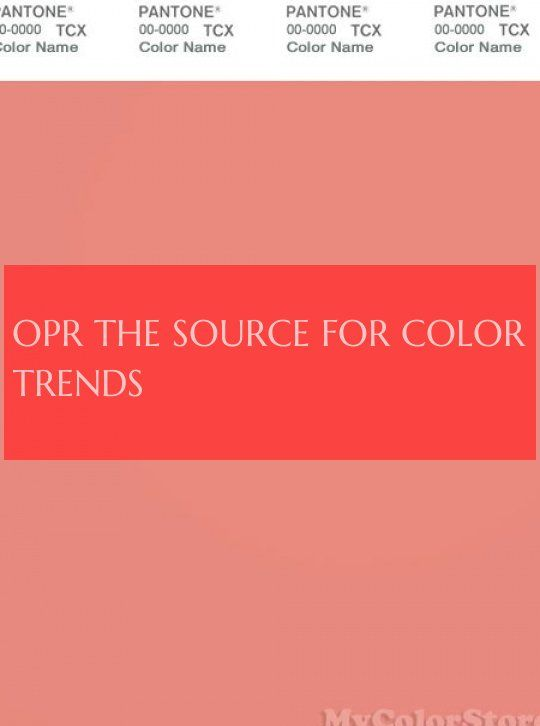 Opr La Source Pour Les Tendances De Couleur Opr The Source For Color Trends