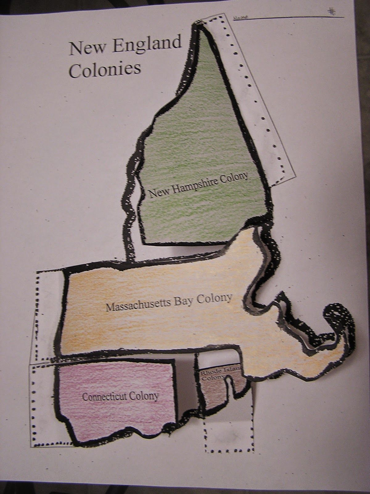 New England Colonies Map Flip Chart