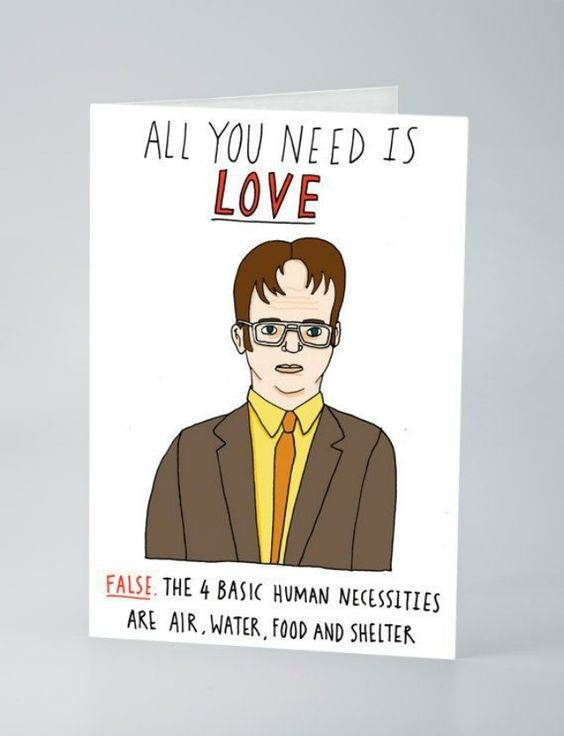 Dwight Schrute Valentine The Office Valentines Office Birthday Office Quotes