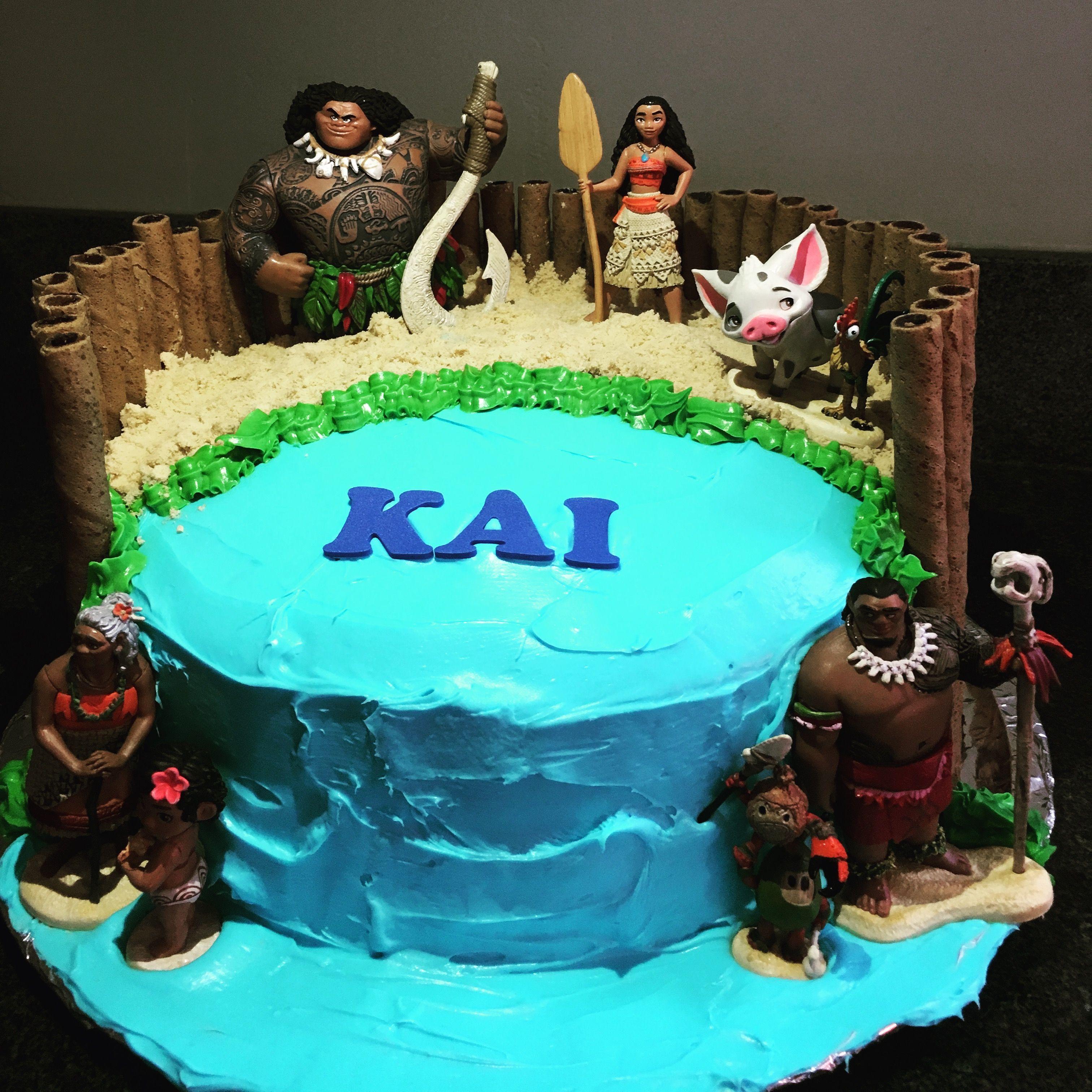 Moana And Maui Birthday Cake Birthday Cakes Pinterest Moana