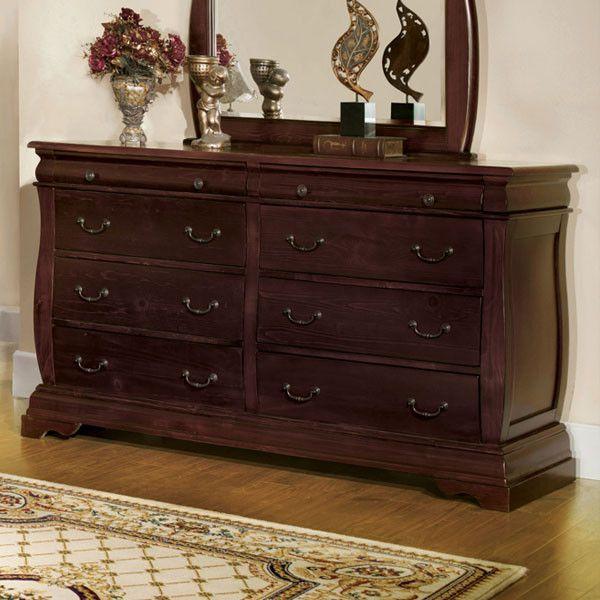 Brunswick Transitional Cottage Style Dark Walnut Finish Bedroom Dresser