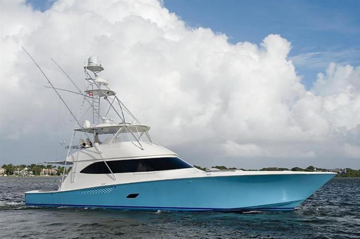 Video of t mack a 2012 76 39 viking yachts convertible for Viking fishing boat