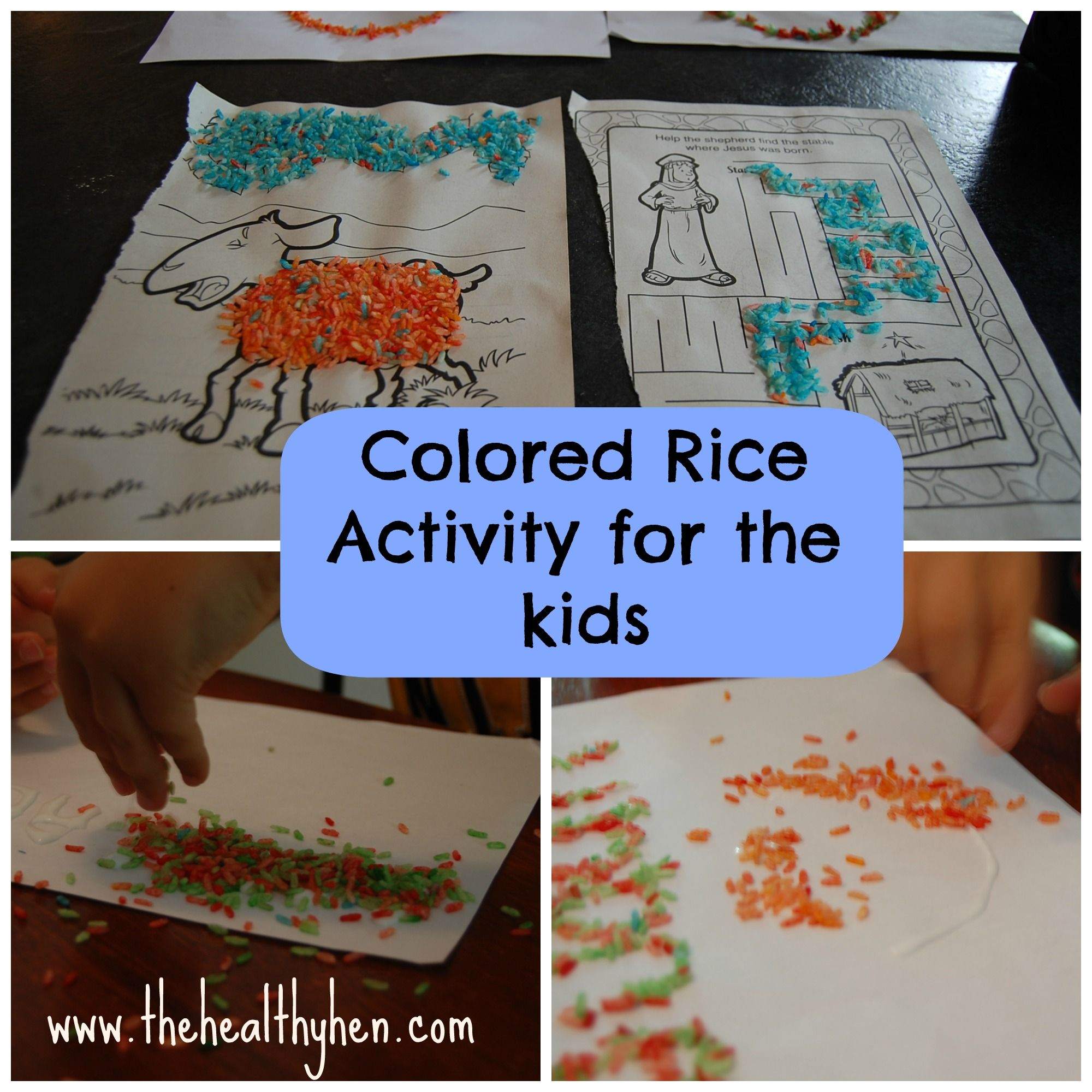 A Fun Activity For A Rainy Day Rice Food Coloring And