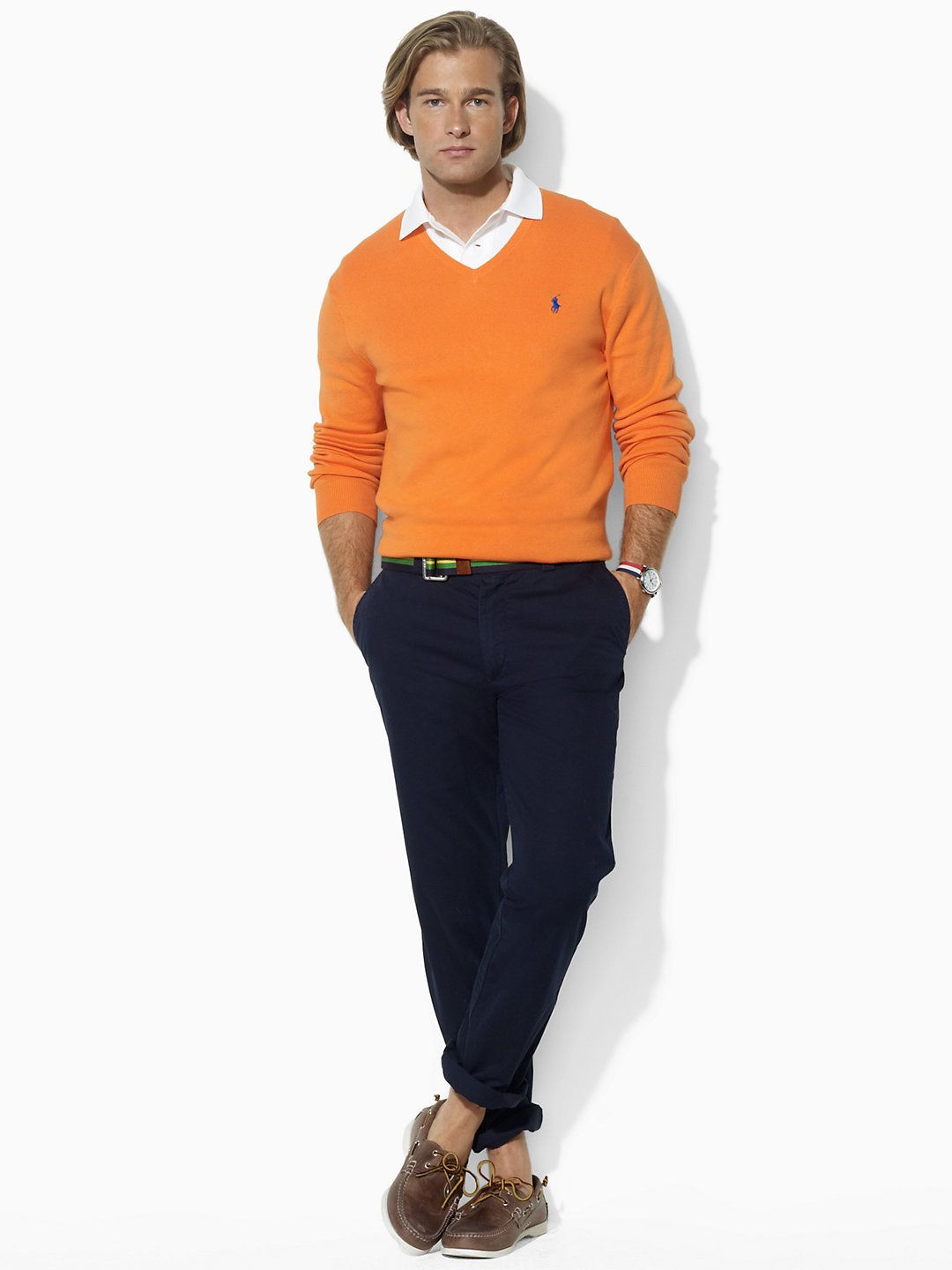 Orange Mens Dress Shirt