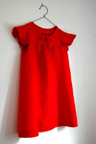 from Kids Happy Homemade Vol.2. in red linen.