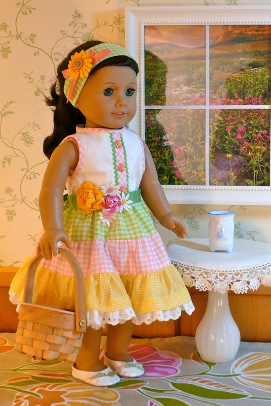 American Girl Doll Handmade Party Dress | Girls, Muster und Oster-kleid
