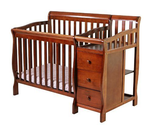 Dream On Me Jayden 3 In 1 Convertible Portable Crib With Changer, Espresso  By Dream