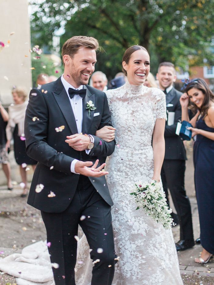 This renowned fashion blogger and TV host's wedding at Dorney Court features an epic reception and breathtaking bridal party styles.