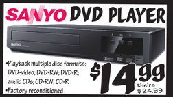 Sanyo DVD Player from Ollie's Bargain Outlet $14 99 | crafts