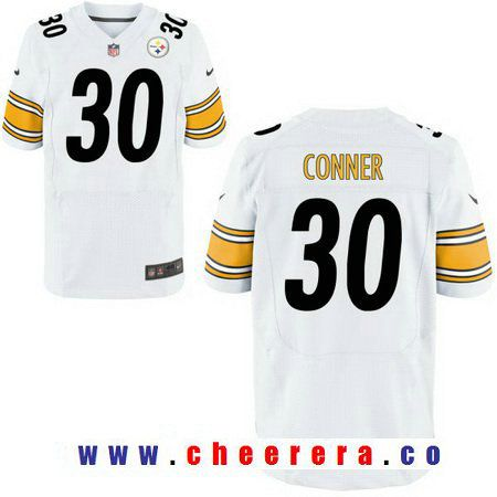 6b4abad40 ... Jersey Mens 2017 NFL Draft Pittsburgh Steelers 30 James Conner White  Road Stitched NFL Nike Elite ...