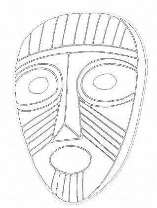 Pin De Eligio Almazan Em A Cartoneria Mascaras Africanas
