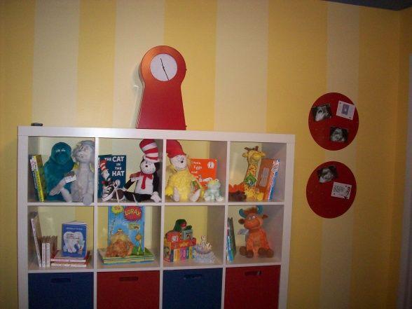Storage Cubes u0026 Ikea CLock & Storage Cubes u0026 Ikea CLock | Dr. Seuss Nursery | Pinterest | Storage ...