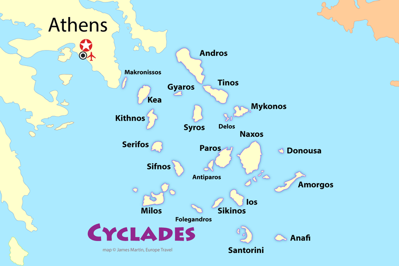 Cyclades Map Islands How to Island Hop to the Cyclades in 2019 | Mediterranean Travel