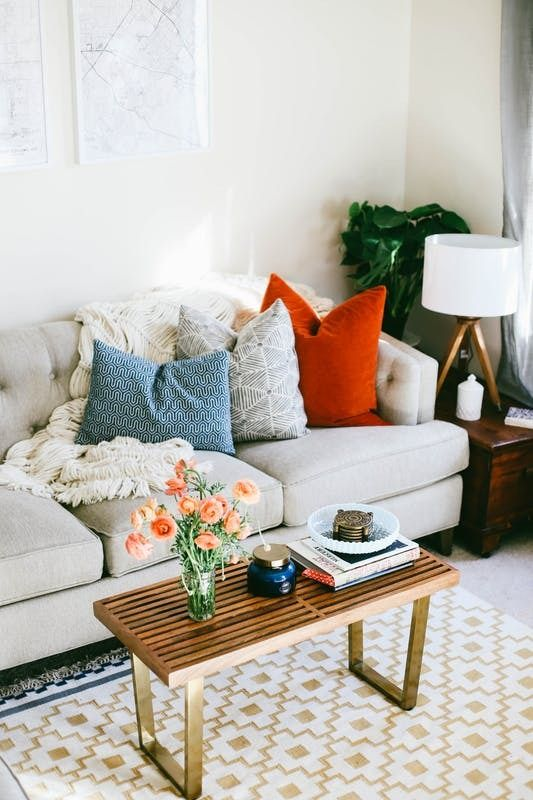 A Rental Complex Apartment Goes Beyond Cookie Cutter  House Call - Apartment therapy living room