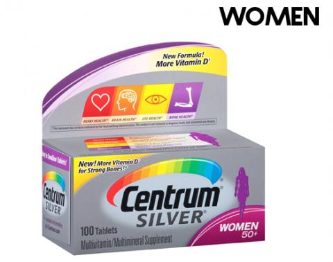 سنترام سيلفر افضل الفيتامينات والمعادن لجسم السيدات Centrum Silver 50 Women100 Tab Centrum Silver Vitamins Centrum
