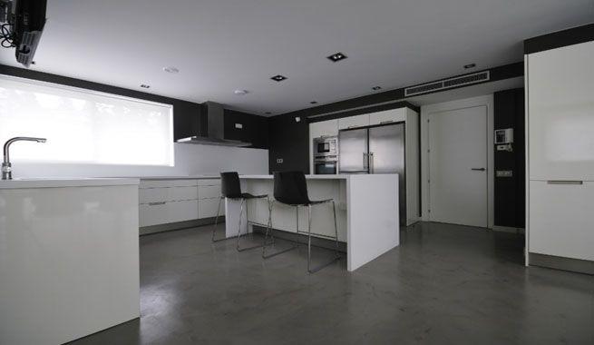 suelo acabado cemento pulido gris si te gusta el acabado de los suelos de cemento - Microcemento Pulido