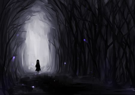 Creepy Art Creepy Dark Drawing Forest Image 518628