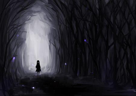 Creepy Art Creepy Dark Drawing Forest Image 518628