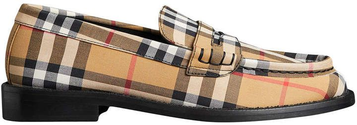 bcf1c3ffb Burberry Vintage Check Cotton Penny Loafers | Products | Penny ...