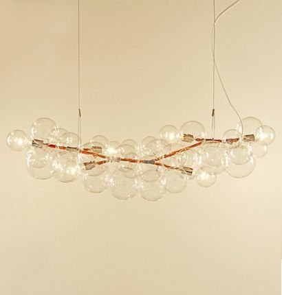 For Over Break Table Love Bc It Is Feels Light And Airy But Substantial Can Dim So The Light Is Really Nice Pelle Desig Bubble Chandelier Chandelier Light