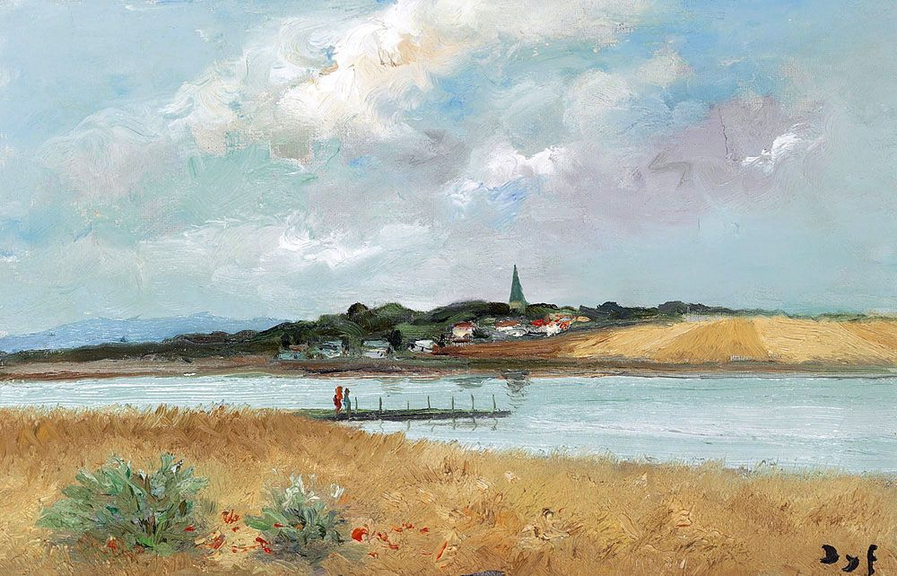 """dyf marcel the belfry of saint colombier 1975 (from <a href=""""http://www.oldpainters.org/picture.php?/24710/category/11484""""></a>)"""