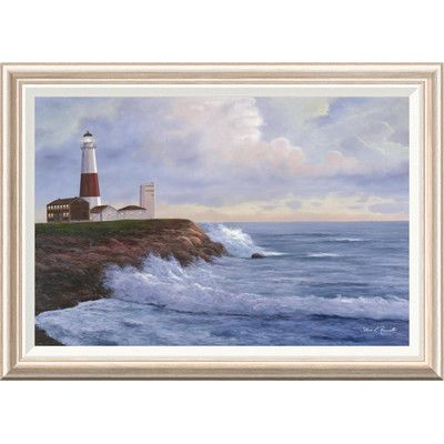 Global Gallery 'Montauk Lighthouse' by Diane Romanello Framed Painting Print Size:
