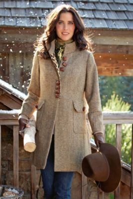 Newbury Coat - Womens Modern Tweed Jacket, Ladies English Style ...