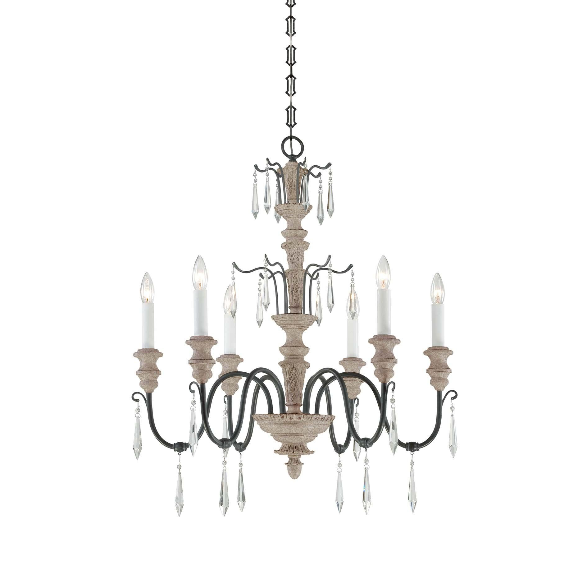 Savoy House 1 4340 6 192 Chandelier with No Shades Distressed
