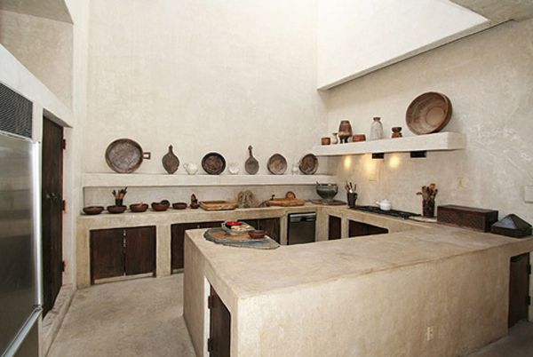 Indiana Jones Inspired House With Images Concrete Kitchen