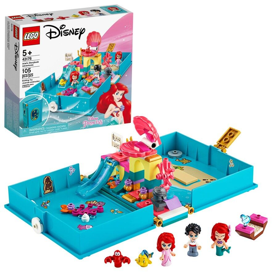 Disney's Little Mermaid Ariel's Storybook Adventures 43176 Creative Building Kit by LEGO