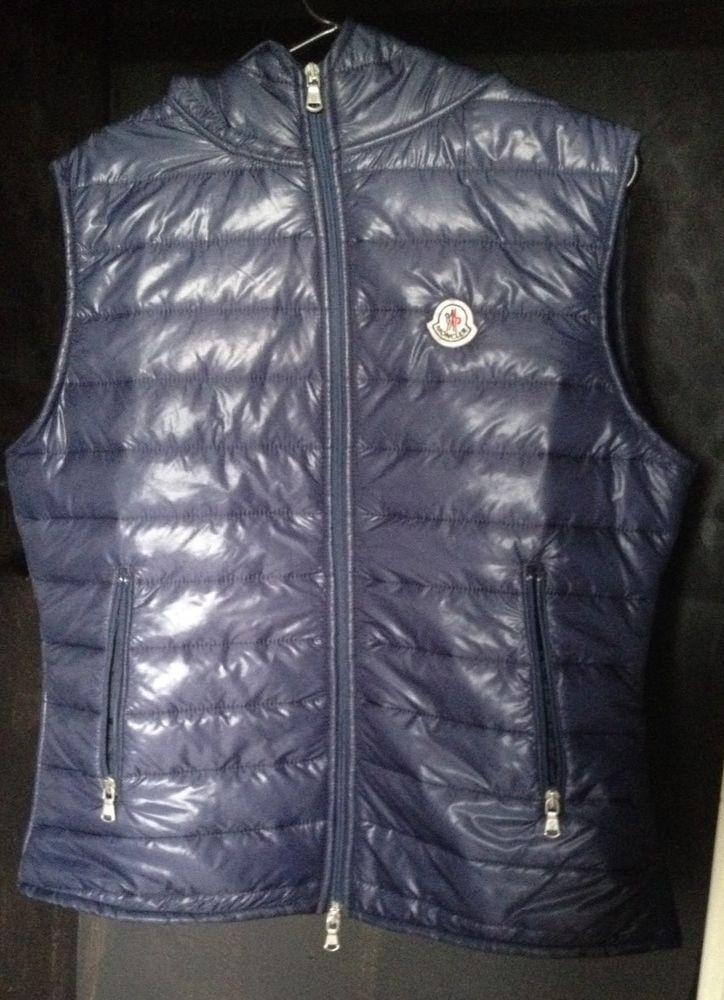b5b250c9c Moncler Men's Patrick Gilet Size 3 Medium Blue Body Warmer UK Seller ...