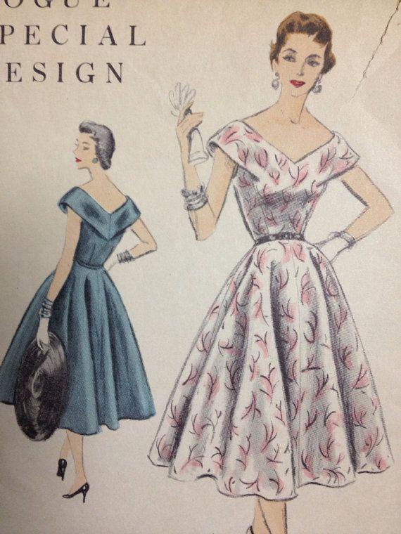 Vintage Pattern - Vogue Special Design - Party Dress - 1950s  on Etsy, $25.00