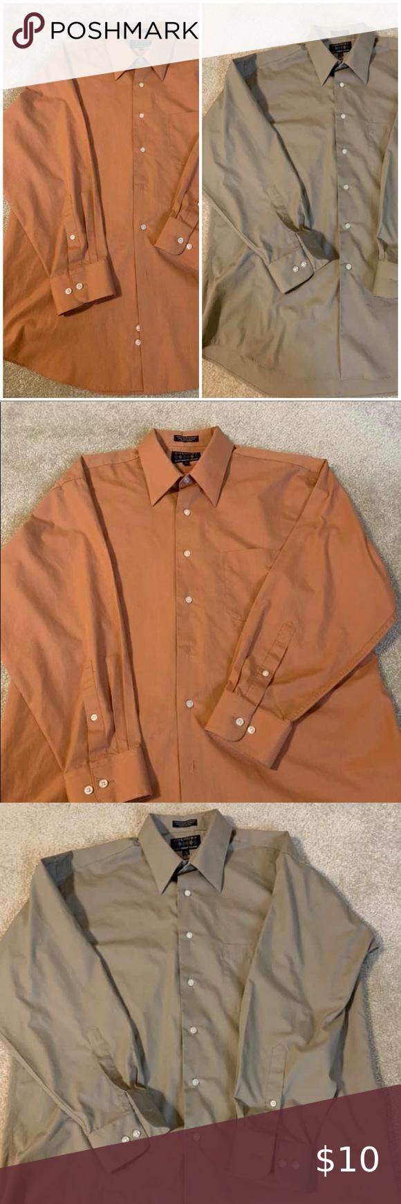 Bundle Of Two Men S Dress Shirts Shirts Shirt Dress Mens Shirt Dress [ 1740 x 580 Pixel ]