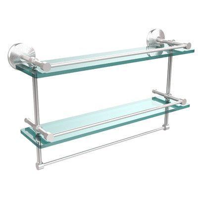 """Allied Brass Monte Carlo 22"""" W Bathroom Shelf Finish: Satin Chrome"""