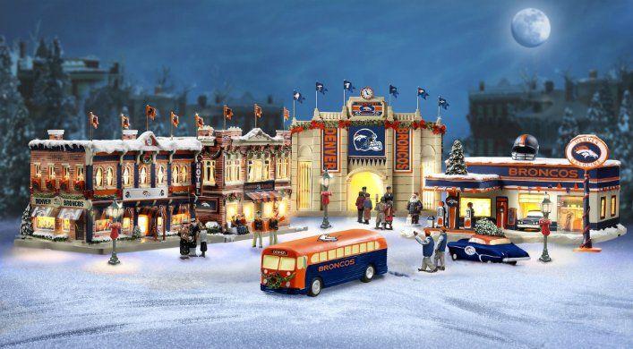 Denver Broncos Collectible Christmas Village Collection  028b88460