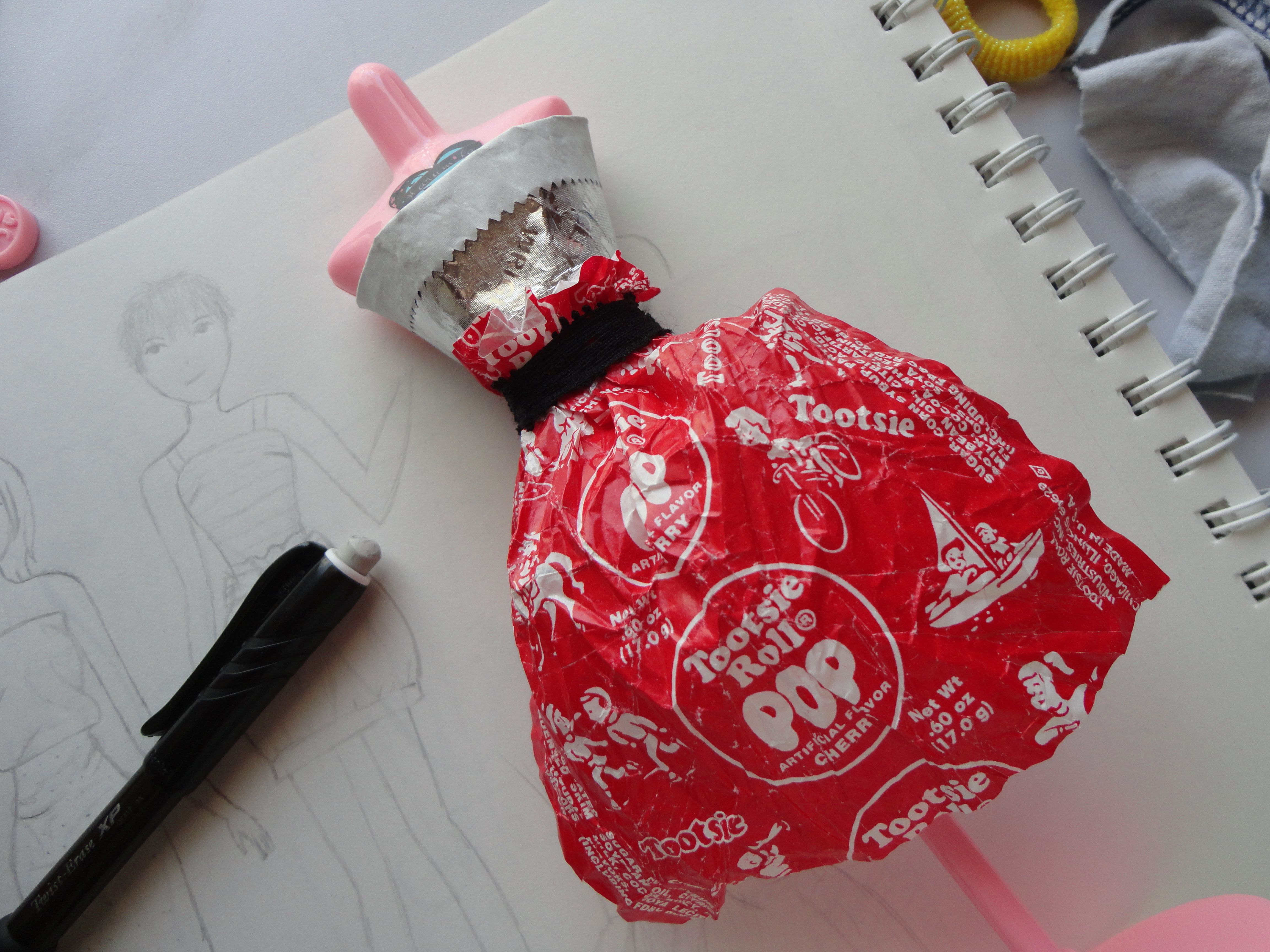 Original tootsie roll paper