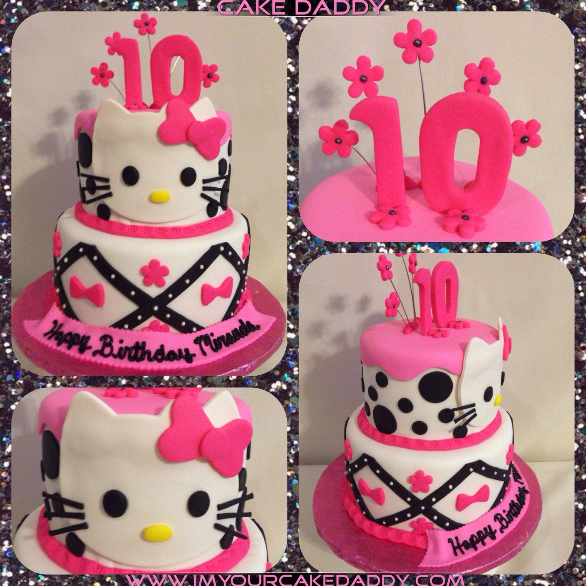 Hello Kitty 2 Tiered Birthday Cake Custom Cakes by Cake Daddy