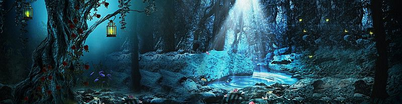 women s fantasy forest background women women s banner fantasy